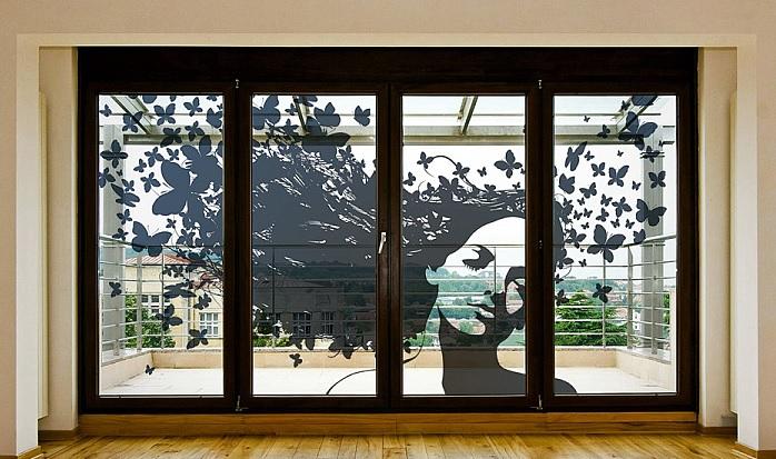 Тонирование витрин и стеклопакетов