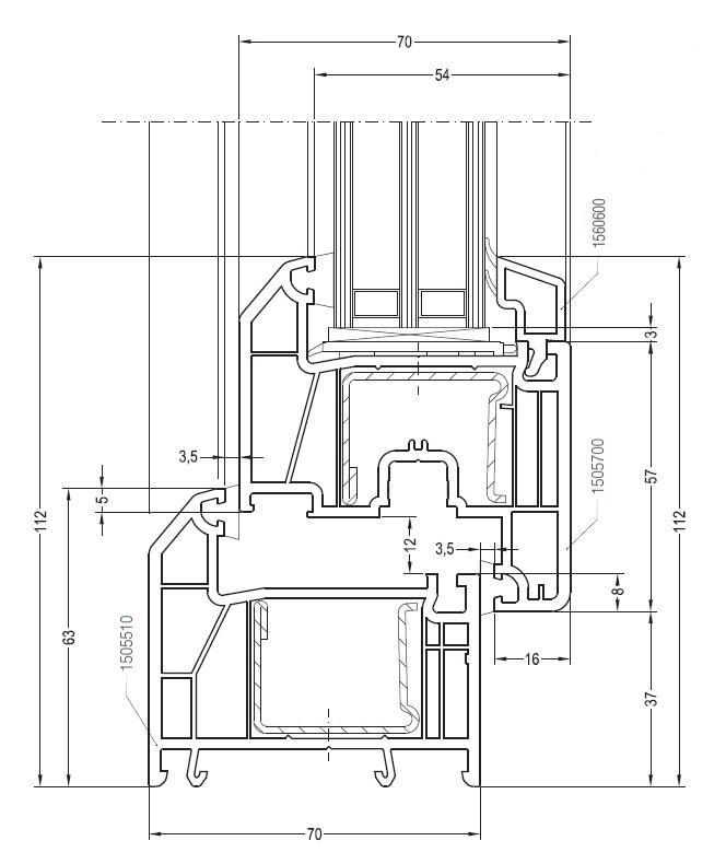 Профиль REHAU GRAZIO 70 мм.