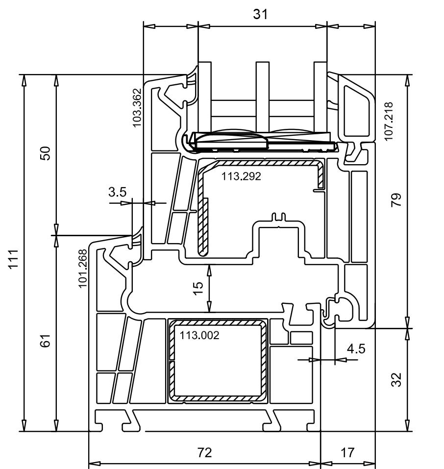 Профиль WHS HALO 72 мм.